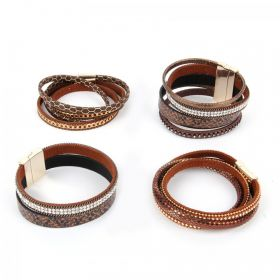 Brown California Multi Cord Take a Make Break Bracelet Kit - Makes x4