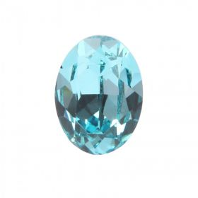 4120 Swarovski Crystal 13x18mm Oval Fancy Stone Light Turquoise F Pk1