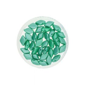 GEMDUO™ / 8x5mm / Pearl Shine / Lt Green / 5g / 35pcs