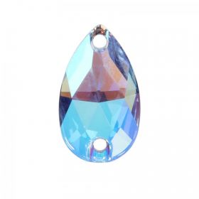 3230 Swarovski Crystal Sew On Drop 10.5x18mm Light Sapphire Shimmer Pk1