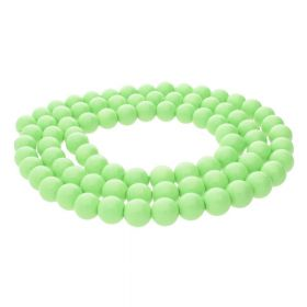 Milly™ / round / 10mm / light green / 80pcs