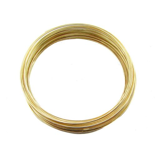 Memory wire / surgical steel / diameter 60mm / gold / wire 0.6mm / 40 loops