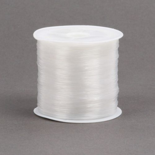 White Monofilament Illusion Cord 0.5mm 100 Metre Spool