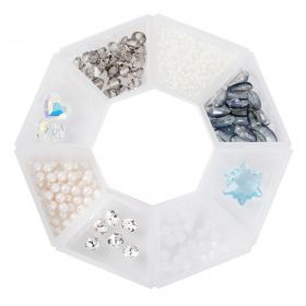 Beads Direct 'Winter' Bead and Crystal Selection with Storage Ring