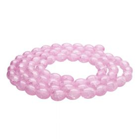 Mistic™ / oval / 10x8mm / pink / 75pcs