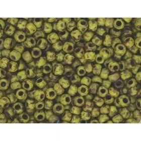 TOHO™ / Round 11/0 / HYBRID Frosted Opaque Picasso / Dandelion / 10g / ~ 1100pcs