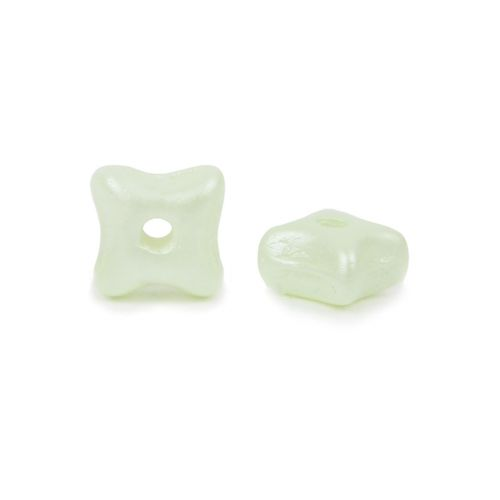 Preciosa Pressed Glass Orion Beads Frosted Lime 3x5mm Pk30