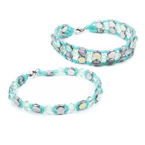 Silver Rainbow Honeycombe Bracelets Kit