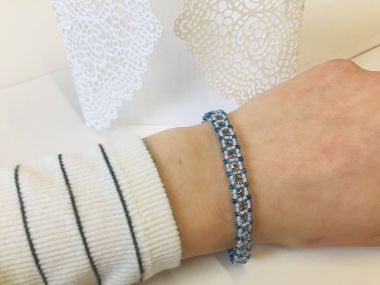 How To Make A Cupchain Tennis Bracelet | TAKE A MAKE BREAK | Jewellery making tutorial
