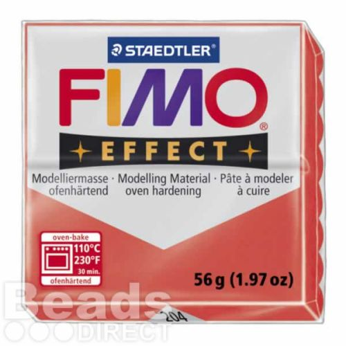 Staedtler Fimo Effect Polymer Clay Translucent Red 56g (1.97oz)