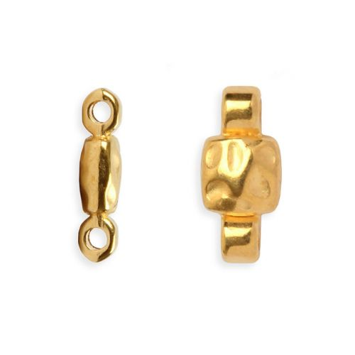 X-Gold Plated Zamak Connector Metal Beads 15x7mm Pack of 5