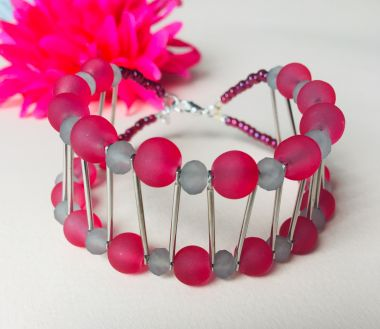 How to make a beaded cuff bracelet - jewellery making tutorial