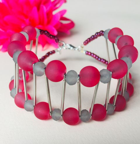 How to make a beaded cuff bracelet - jewellery making