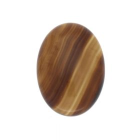 Agate / cabochon / oval / 18x25x6mm / brown / 1pcs