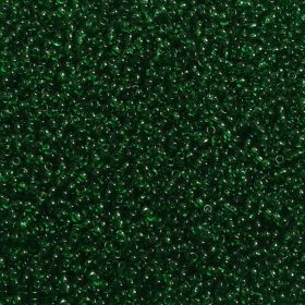 """X"" Toho Size 11 Round Seed Beads Transparent Grass Green 10g"