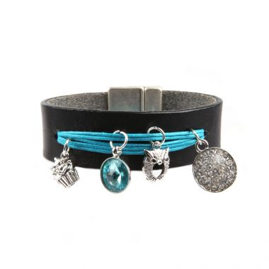 Turquoise Charm Cuff
