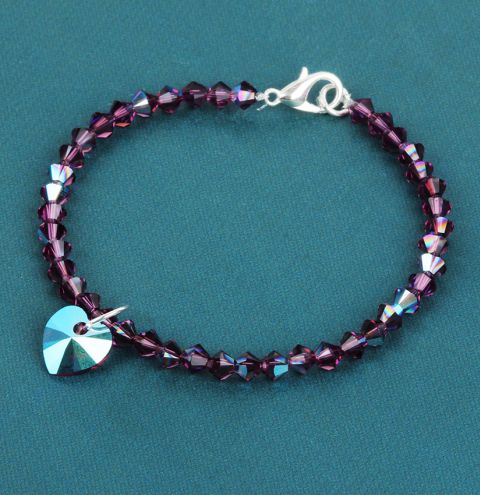 Innovations Crystal Heart Bracelet