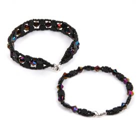 Jet Honeycomb Bracelet Kit - Makes x2 Styles
