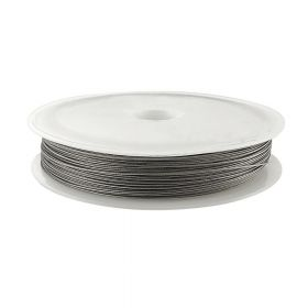Jewellery wire / surgical steel / 0.50mm / silver / 38m