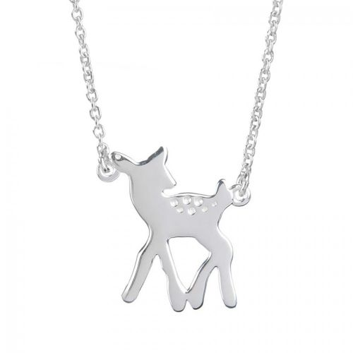 Ready To Wear Sterling Silver 925 Bambi/Deer Necklace with Gift Box