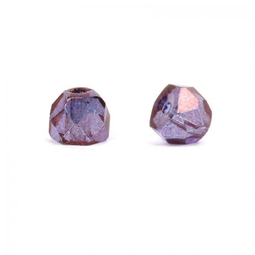 X- Preciosa Czech Glass Hill Bead Copper/Amethyst 6mm Pk30