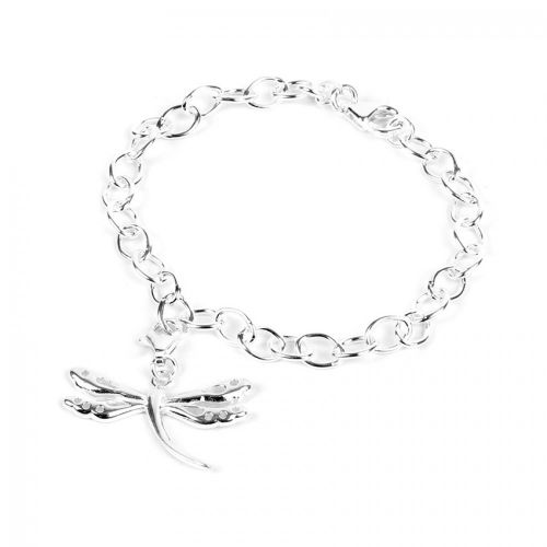 X-Ready To Wear Sterling Silver 925 Small Dragonfly Bracelet with Box