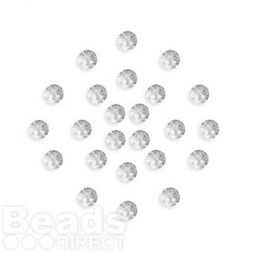 2088 Swarovski Crystal 4mm Crystal F Xillion Flat Backs Pk24
