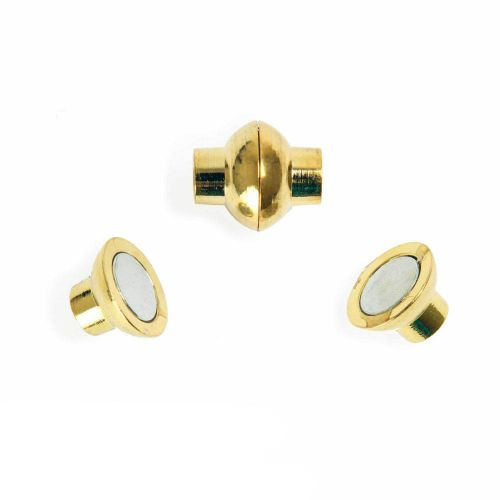 X- Gold Plated 4mm Magnetic Clasp Pk1