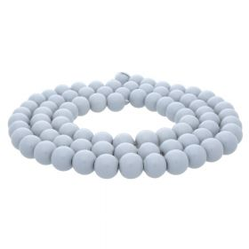 Milly™ / round / 8mm / light grey / 100pcs