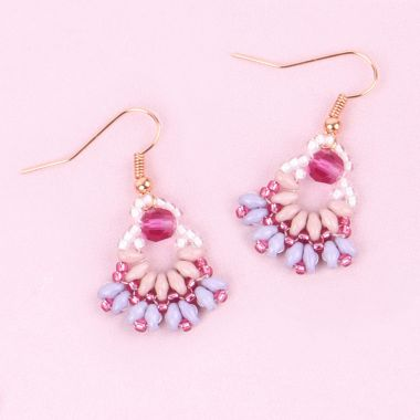 Fuchsia Petal Earrings