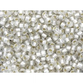 TOHO™ / Round 6/0 / Silver Lined Frosted / Crystal / 10g
