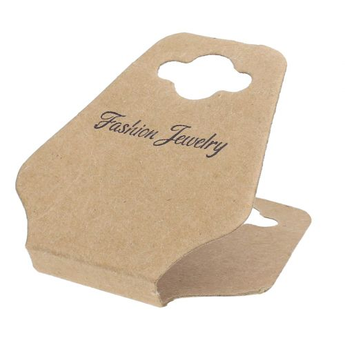 Labels for jewellery / foldable / 8cm / cardboard / 20pcs