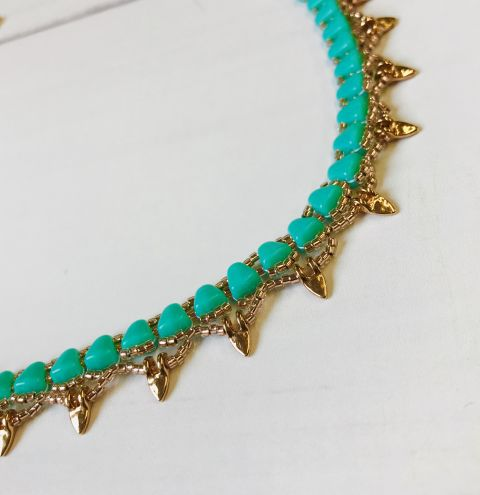 How to make a nib-bit collar necklace - jewellery making tutorial step by step