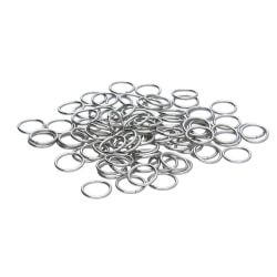 Jump rings / surgical steel / 10mm / silver / wire 1.2mm / 20pc