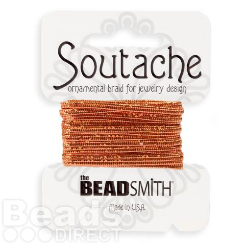 Copper Metallic Rayon Soutache Cord Beadsmith 3yds