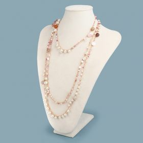 Beads Direct Lariat Crochet Necklace Kit - Copper and Pink