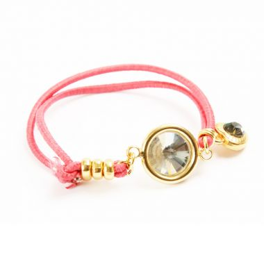Coral Reflection Elastic Bracelet