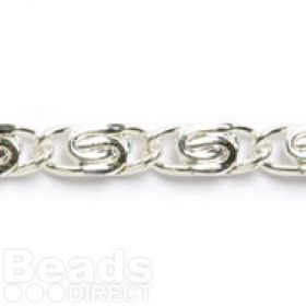 Silver Plated S Curb Chain 3x6mm 1metre