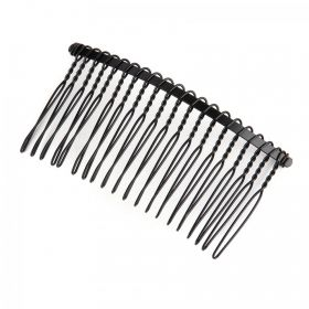 Black Coloured Wire Hair Comb 7.5cm Pack1