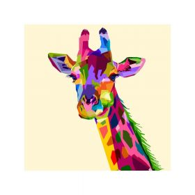 Diamond painting / mosaic / giraffe / 20x25cm / 1pcs