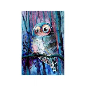 Diamond painting / mosaic / owl / 20x25cm / 1pcs
