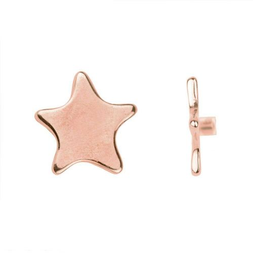 Rose Gold Plated Star Pin Charm for Bangle with Stopper 28mm Pk1