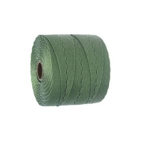 BEADSMITH ™ / thread SuperLon Fine / nylon / Tex 135 / Avocado / 0.5mm / 108m