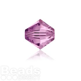 5328 Swarovski Crystal Bicones 4mm Light Amethyst Pk1440