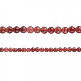 "Strawberry Quartz Semi Precious Round Beads 4mm 15"" Strand"