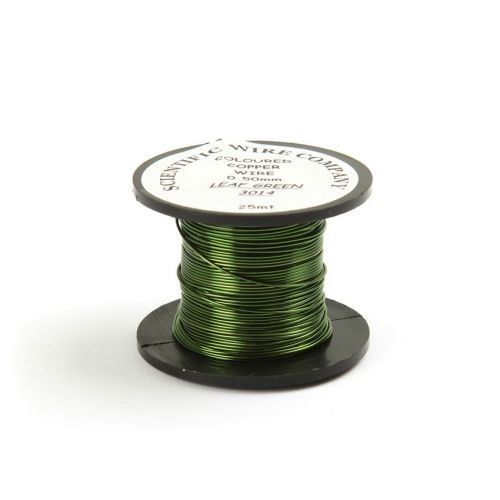 Copper Craft Wire Leaf Green 3014 0.5mm 25m Reel