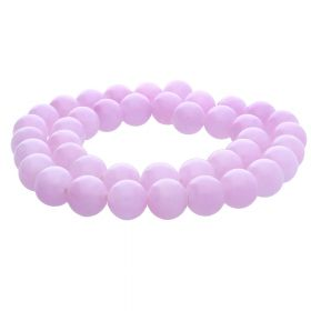 Jade / round / 8mm / pale pink / 50pcs