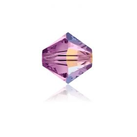 5328 Swarovski Crystal Bicones 4mm Light Amethyst AB Pk1440
