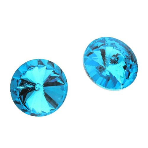 Bonny™ / crystal glass / rivoli / 10mm / Teal / 12pcs