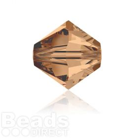 5328 Swarovski Crystal Bicones 6mm Light Smoked Topaz Pk360